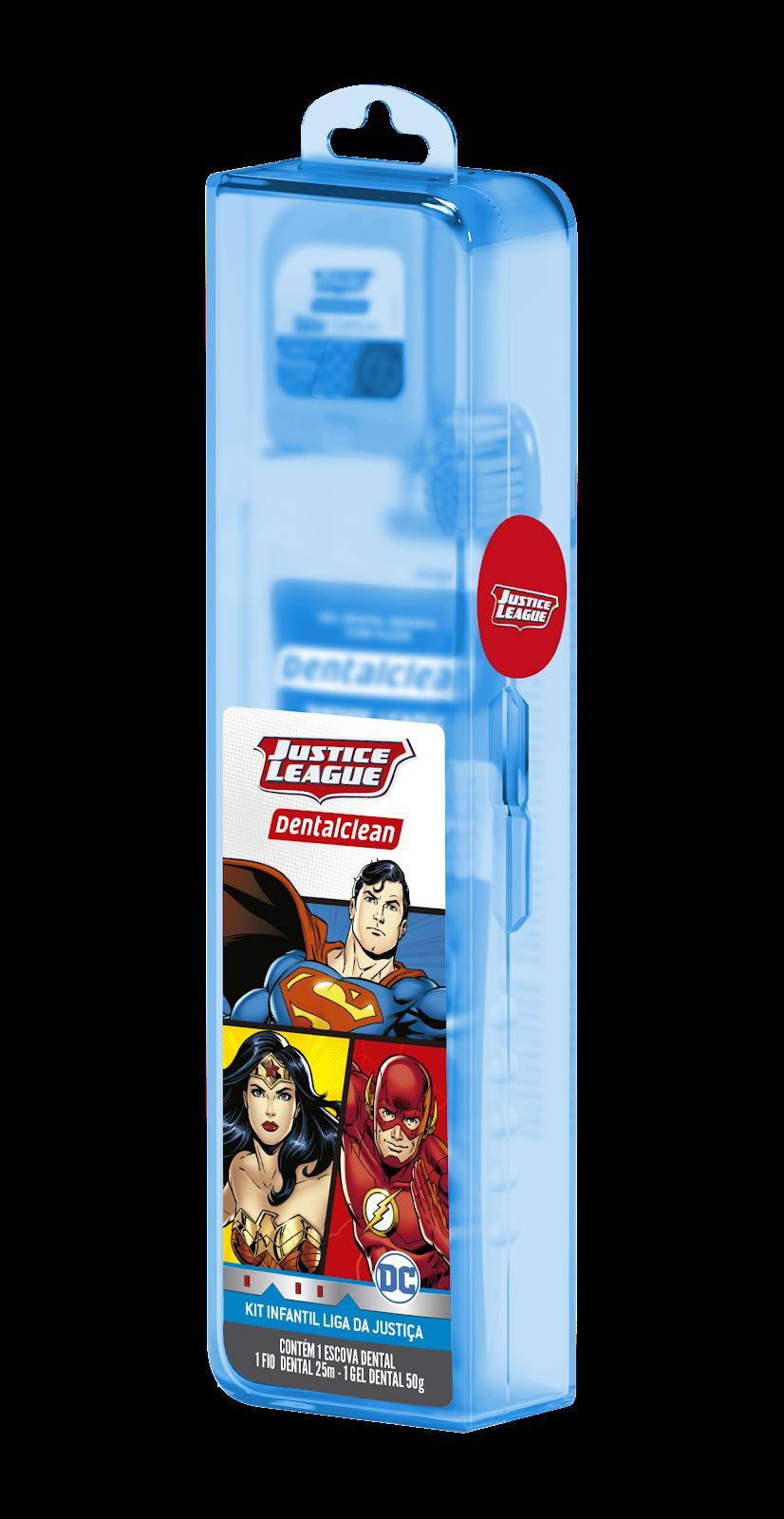 Escova de dente infantil liga da justiça