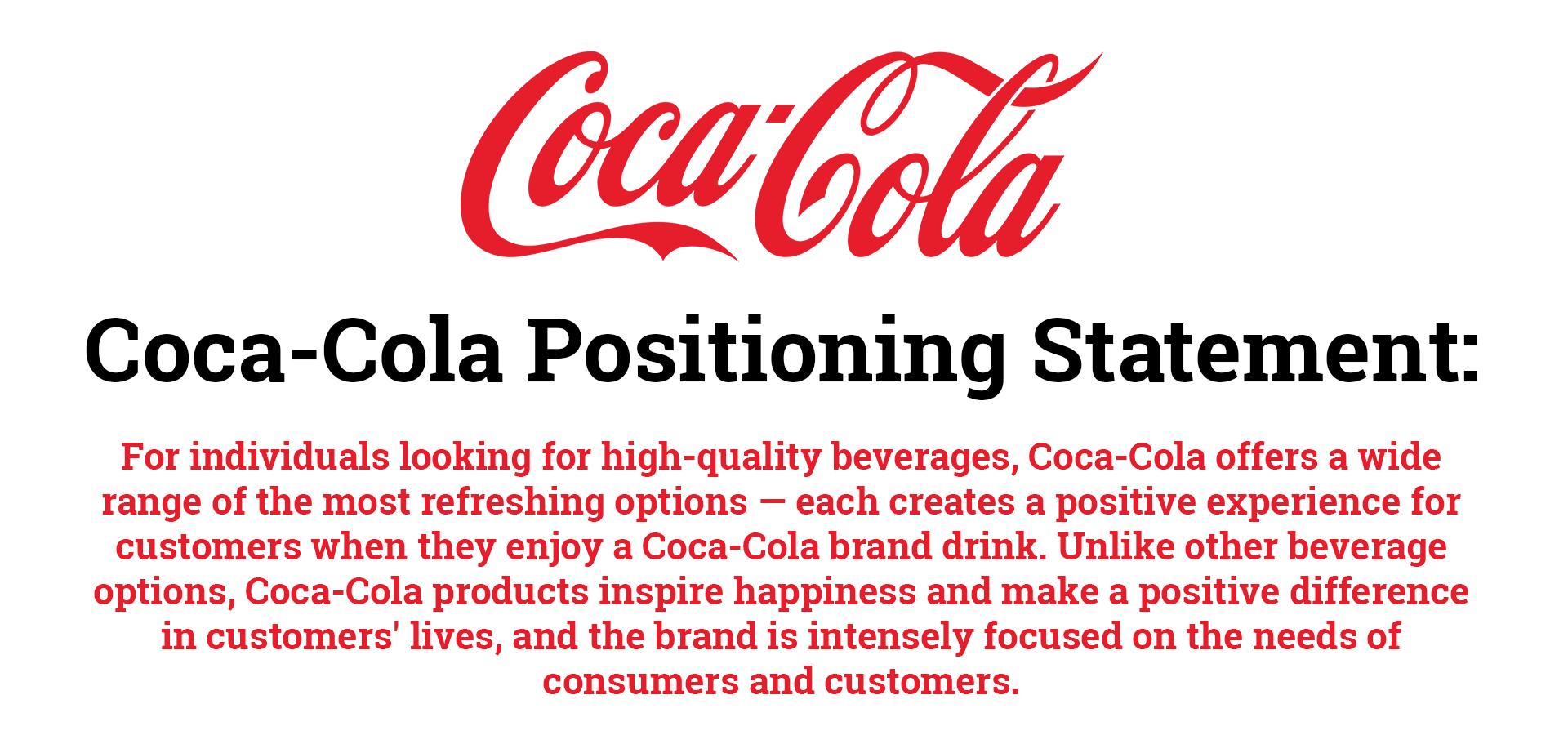 coca-cola positioning statement