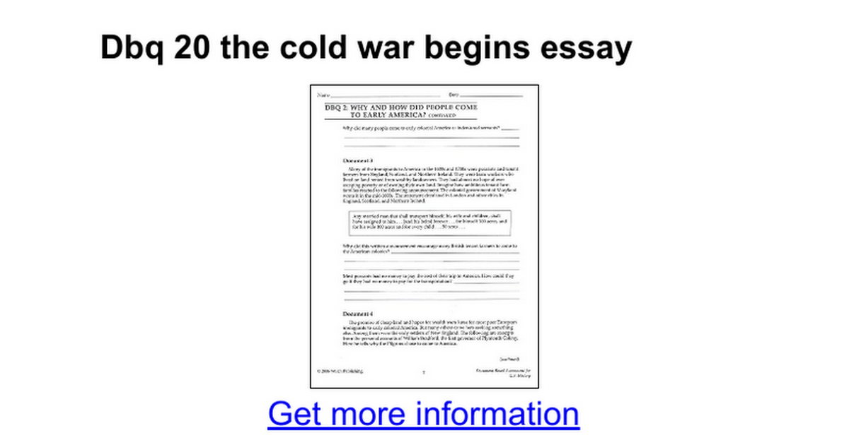 dbq the cold war begins essay google docs