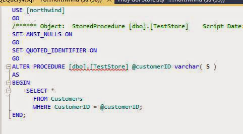 chỉnh sửa stored procedure