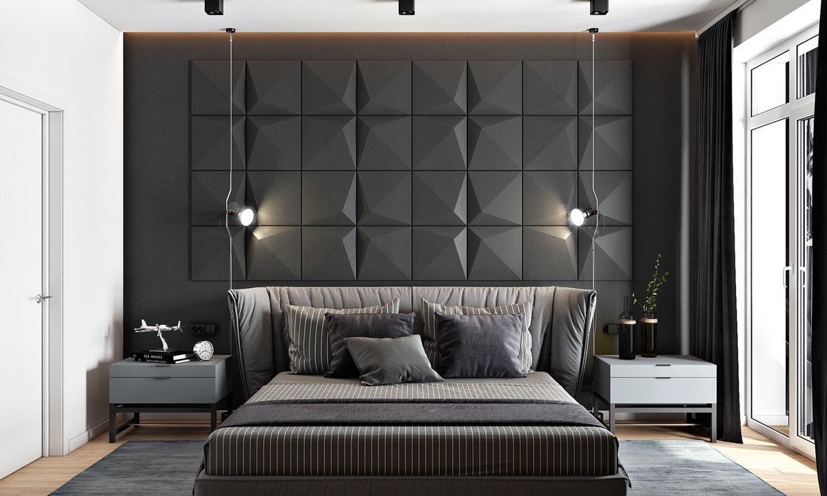 A Masculine Large Bedroom