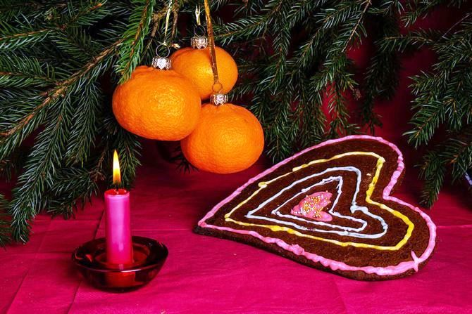 Tangerine decorations for New Year 2