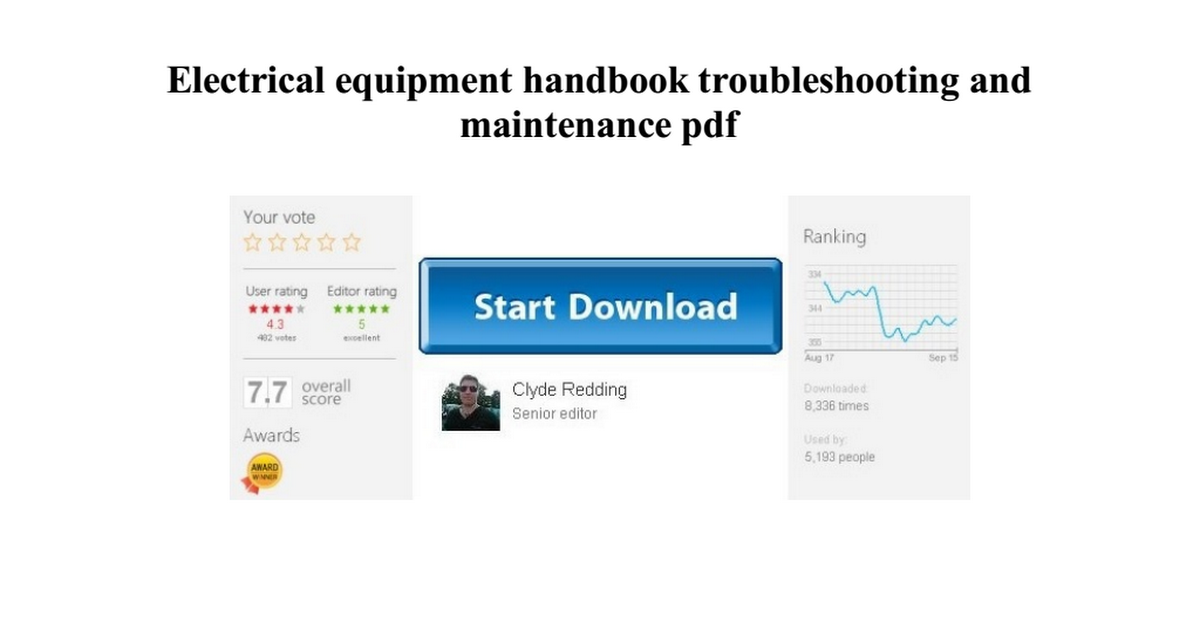electrical equipment handbook troubleshooting and