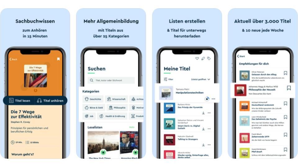 Benefit-App Blinkist