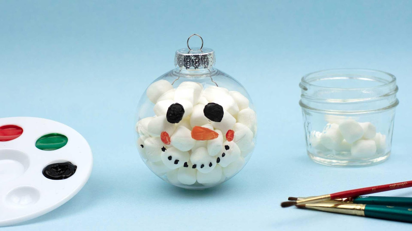 Marshmallow Christmas Ornament DIY