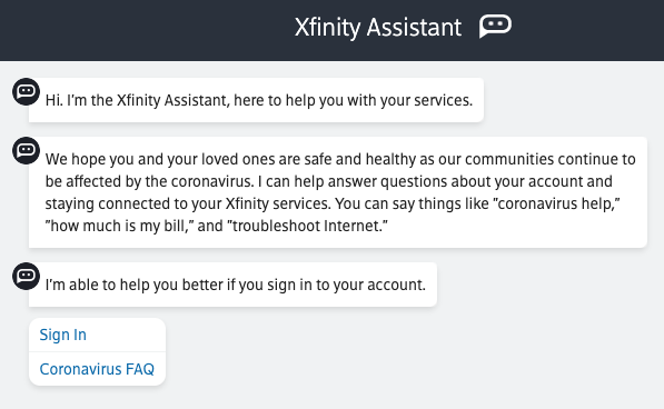 Xfinity Assistant by Comcast