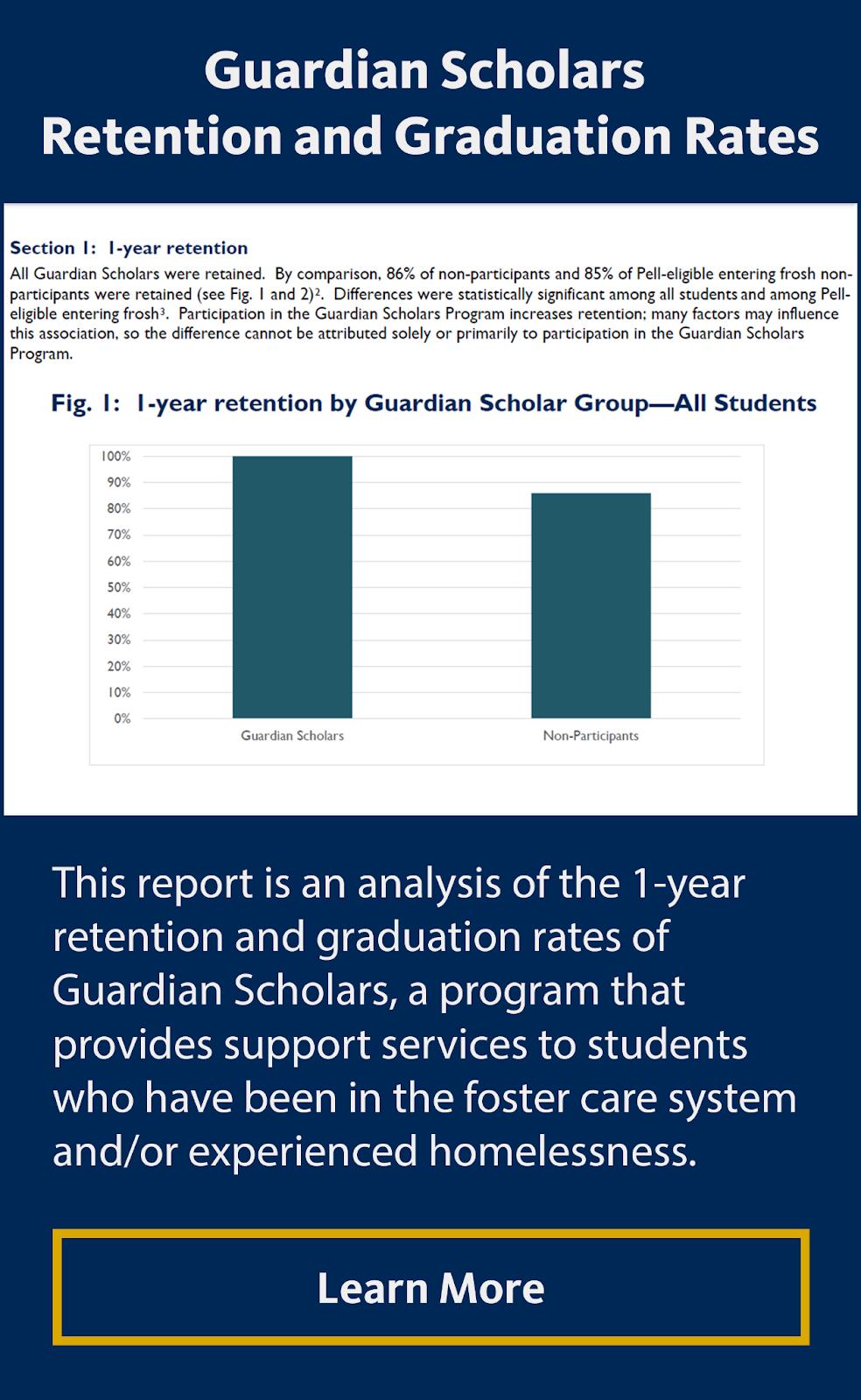 Guardian Scholars Retention and Graduation Rates