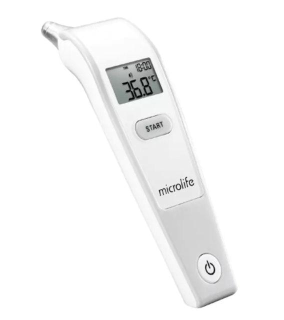 1. เครื่องวัดอุณหภูมิทางช่องหู รุ่น IR 1DF1-1 Microlife