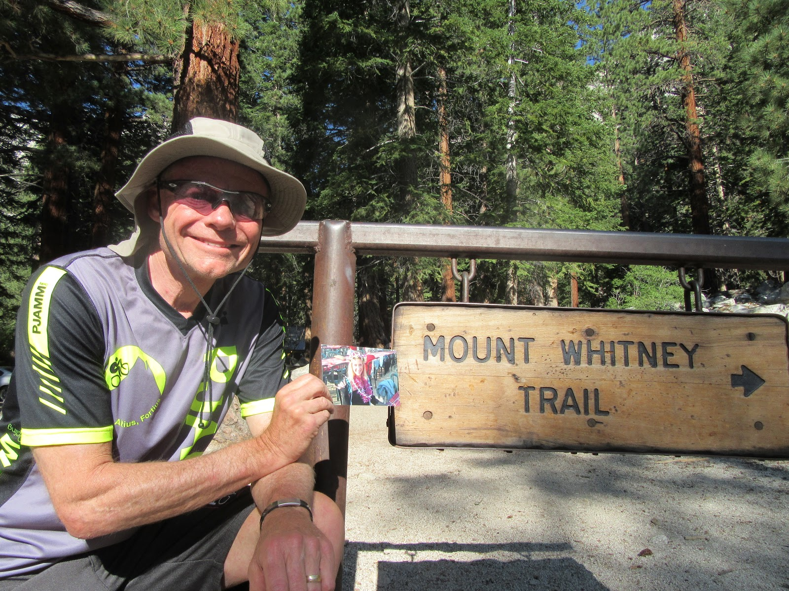 John Johnson at Whitney Portal for hike to top.