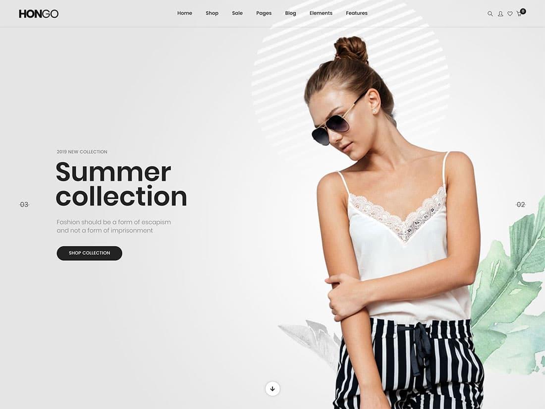 Wordpress ecommerce themes hongo