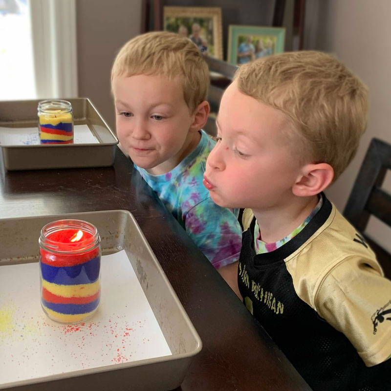 Kids candle craft