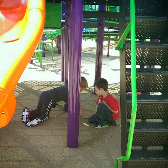 autism progress social interaction on playground