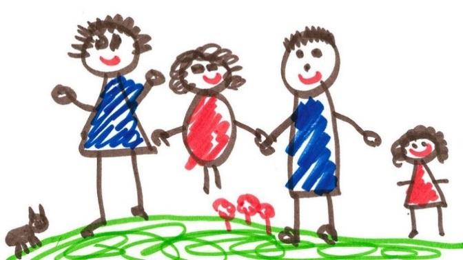 Image result for child's drawing of family