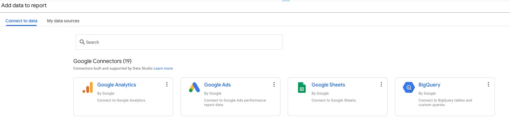 Adding Velocity Data Link as Data Source in Google Data Studio