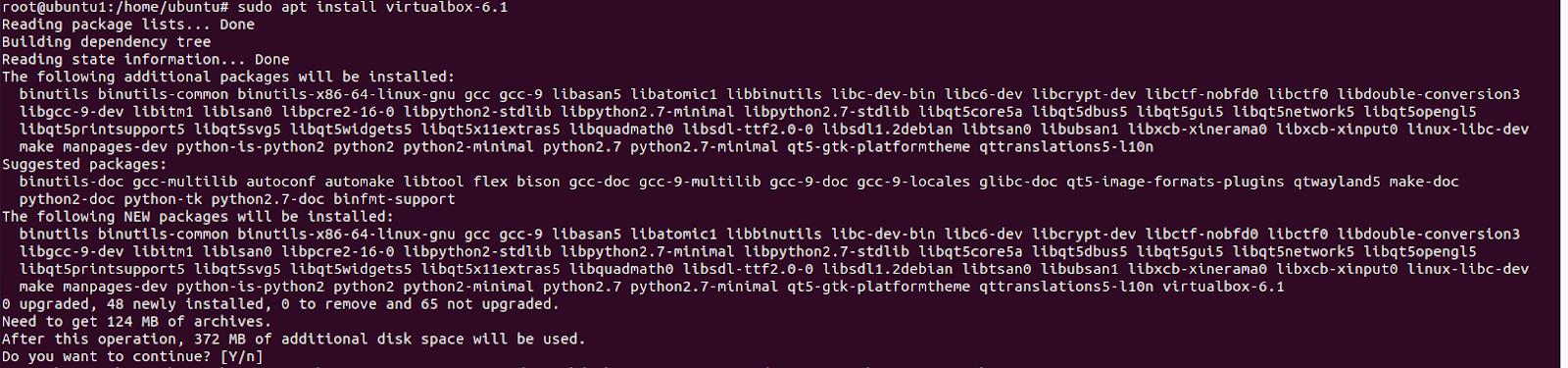 Install VirtualBox 6.1 on Ubuntu