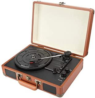 Record Player Vinyl Record Player with PH/INT/BT 2.0 Stereo Speakers for 18/20/30cm Record, Turntables for Vinyl Records 3...