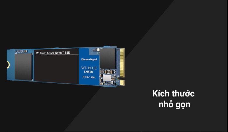 Ổ cứng SSD WD Blue SN550 1TB M.2 2280 NVMe Gen3 x4 (WDS100T2B0C) | Kích thước nhỏ gọn