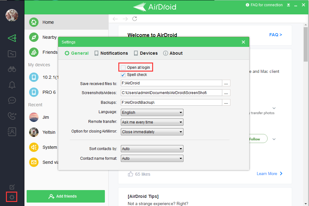 Help & FAQ] How to disable Auto start? | AirDroid Forum | Delight