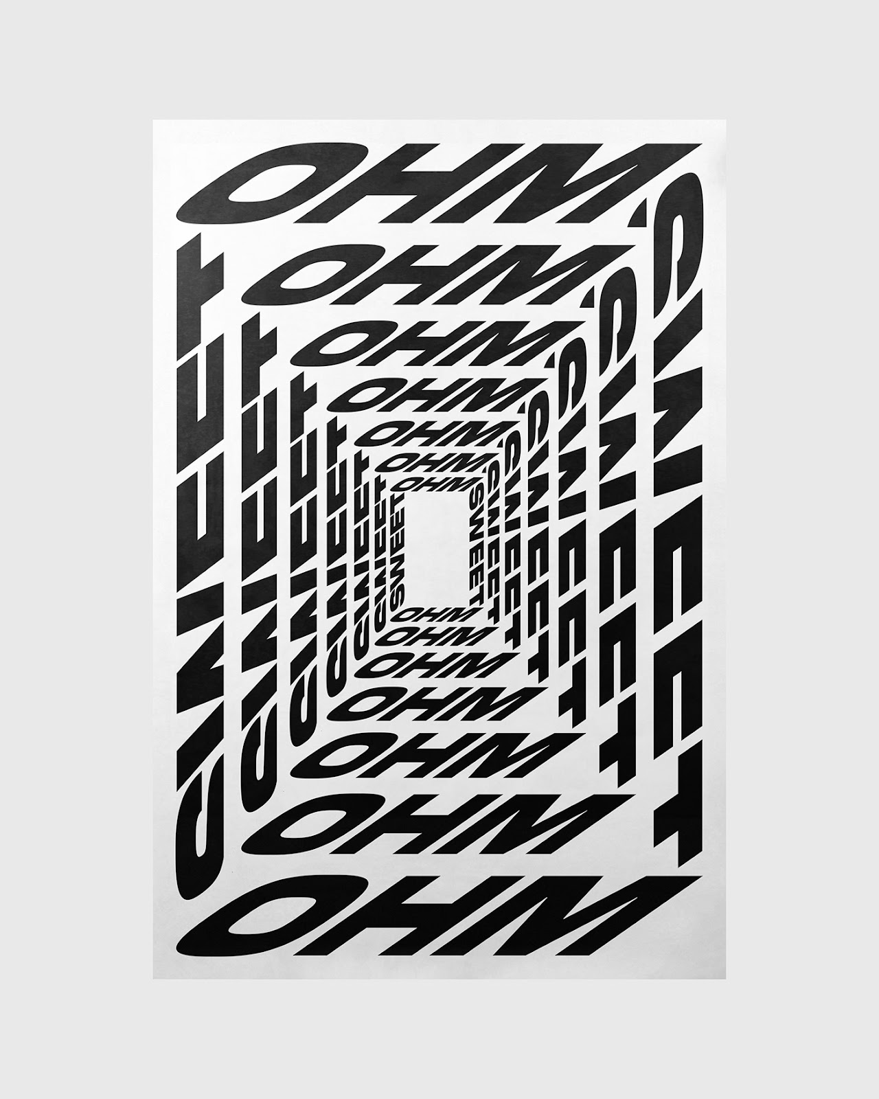 Ohm Sweet Ohm poster by Xtian Miller