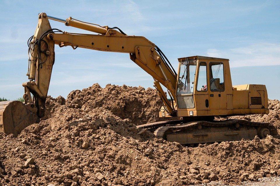 Escavadeira, Site, Veículo, Trabalhos De Construção