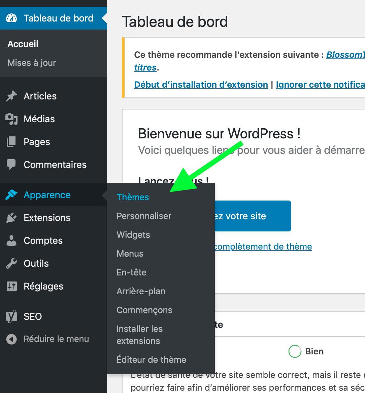 Wordpress-apparence-theme