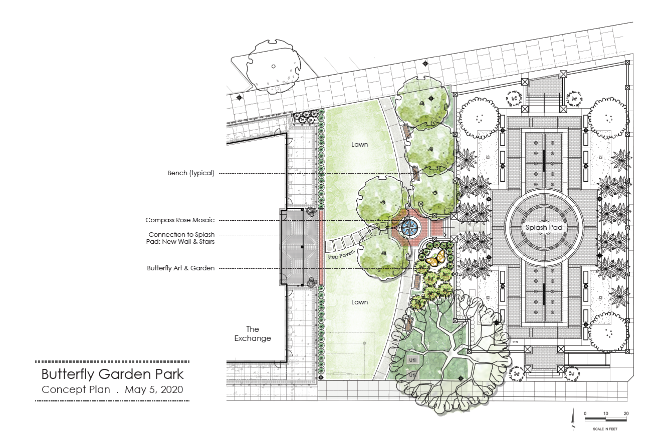 Winter Garden Park Concept Illustration