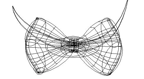 Bow Tie Illustration Outline