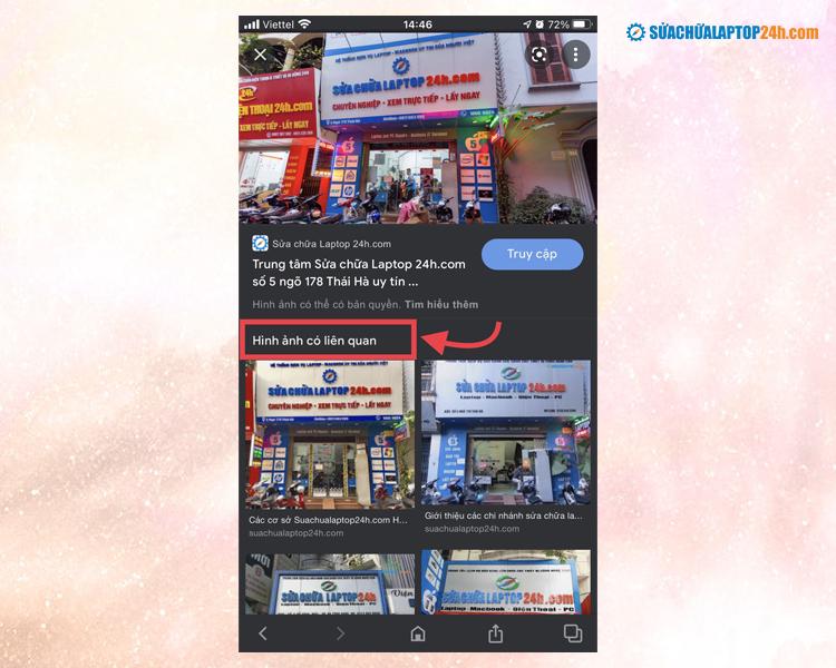 Sau khi chọn hình ảnh, thông tin liên quan sẽ hiển thị bên dưới
