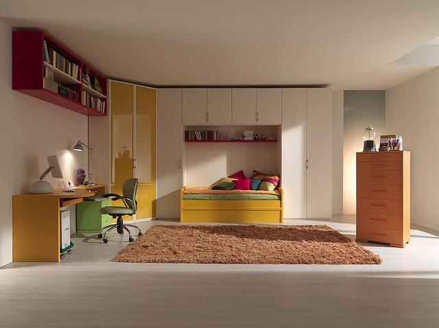 Child's bedroom, bedroom interiors