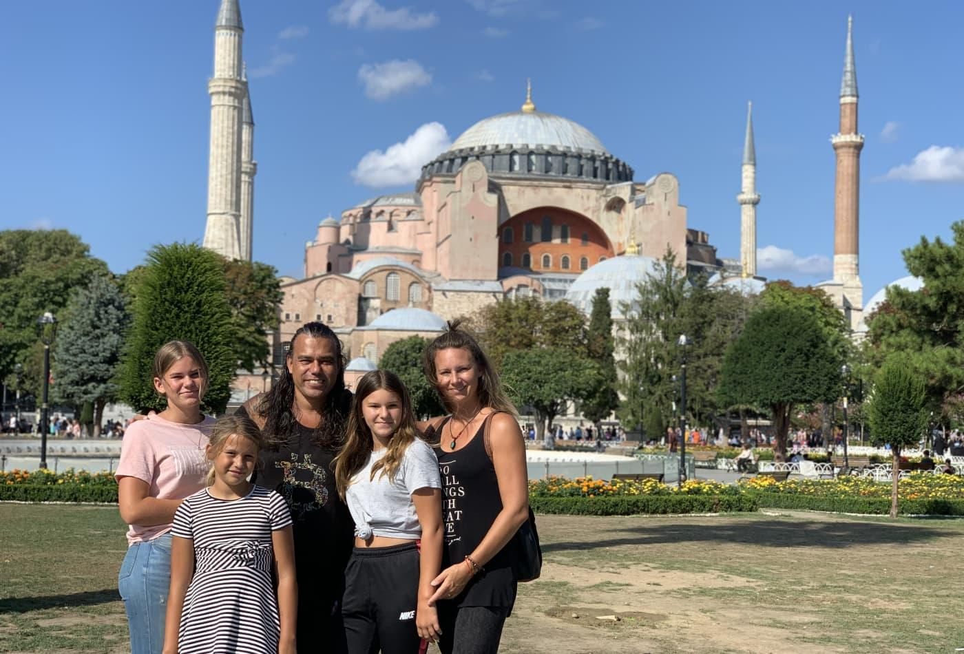 Taihuttu family in Istanbul, Turkey