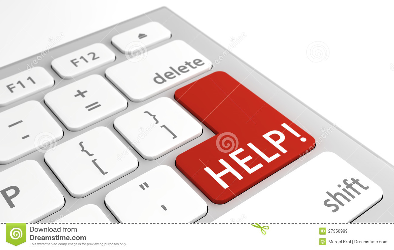 Help Text On Keyboard In Red Royalty Free Stock Images ...