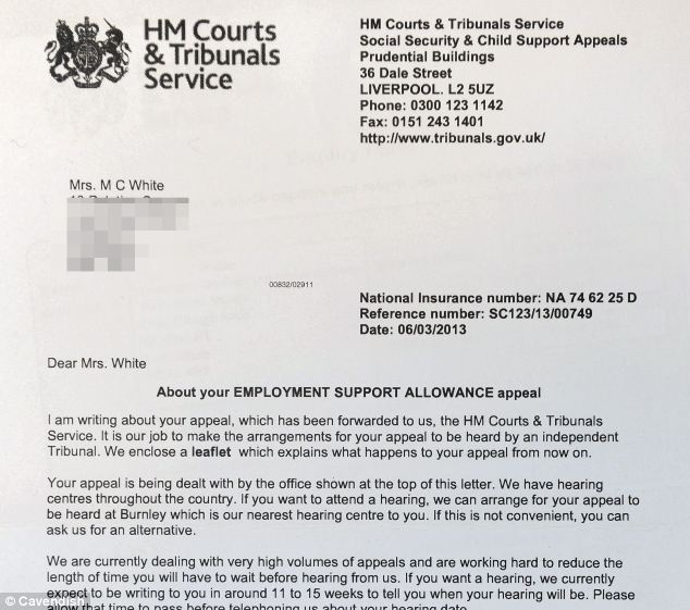 HM Courts and Tribunals Service letter (7 examples)