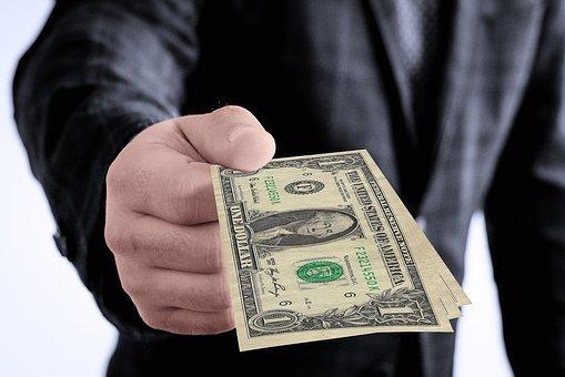 Dollar, Gift, Hand, Keep, Give, Present