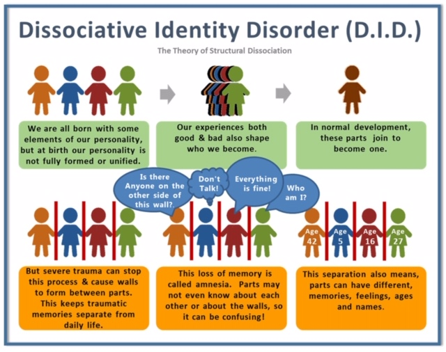 Multiple Personality Disorder or Dissociative Identity Disorder theory