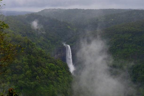Surla waterfall in Monsoon season