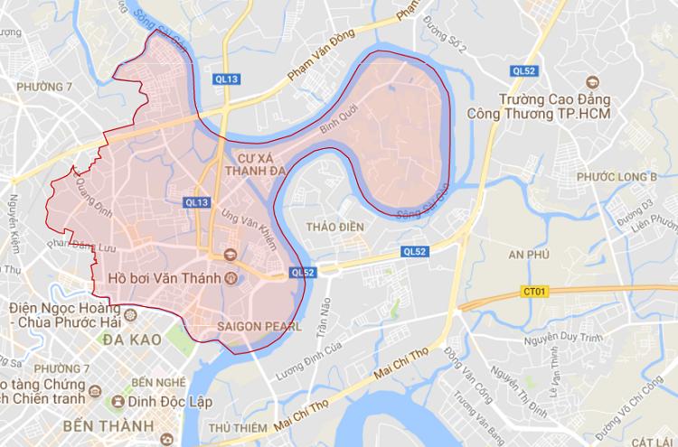 Quận Bình Thạnh thuộc khu vực phía Đông TP. Hồ Chí Minh