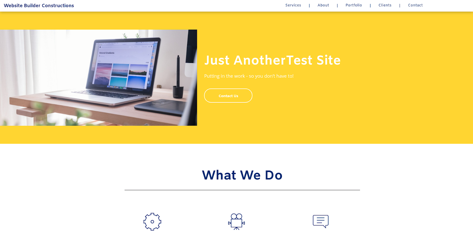 duda website maker test site
