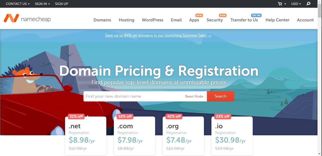 Namecheap Cheap Domains