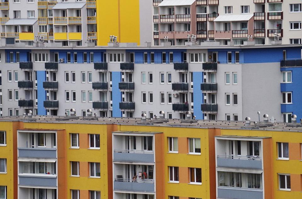 Ciudad, Apartamentos, Edificios, De La Vivienda