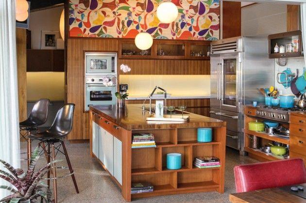 Mẫu nhà bếp phong cách thiết kế retro siêu đẹp