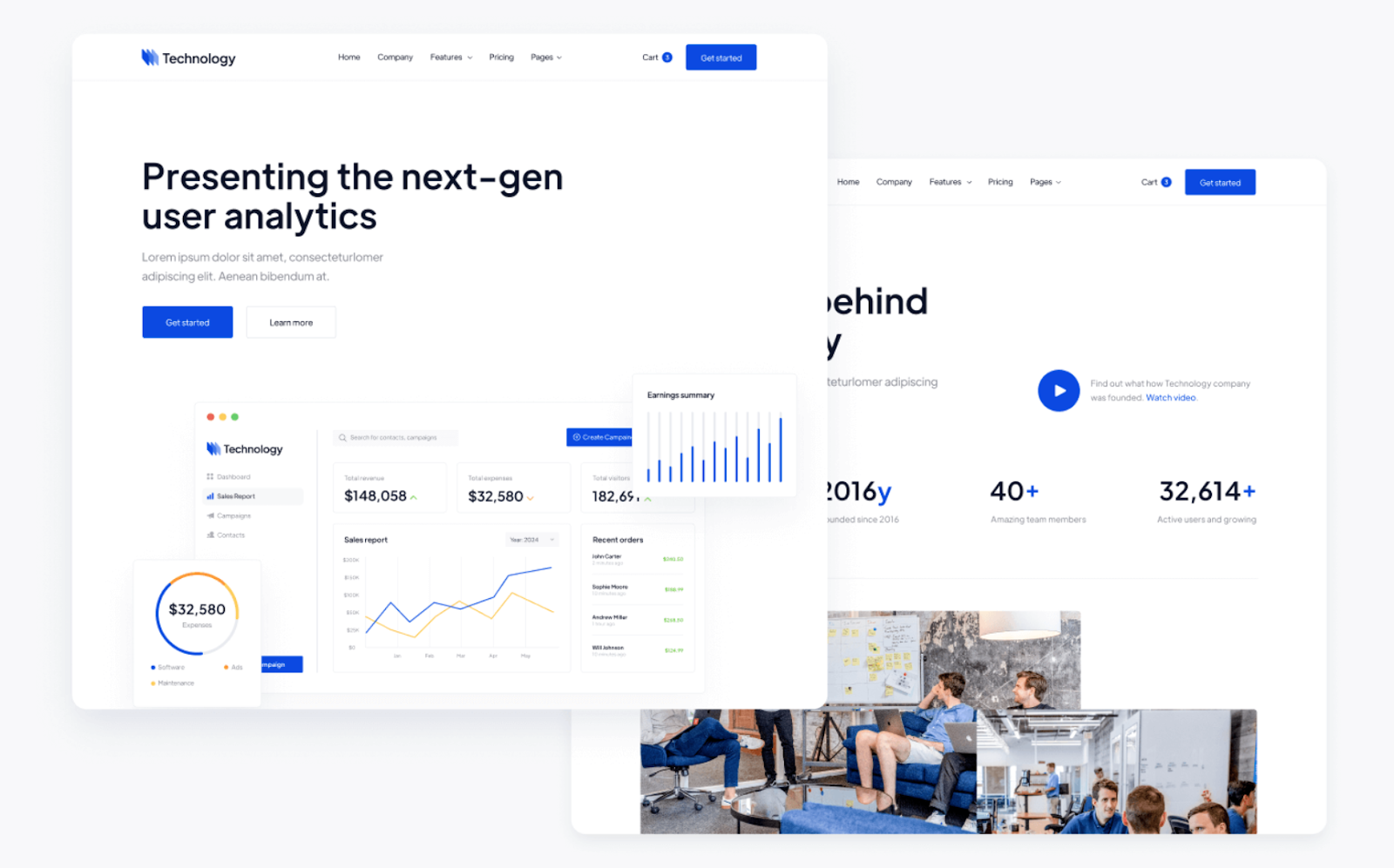Technology Startup Webflow Template