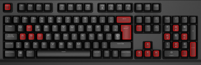 Game keys are W A S D Arrow keys Escape Backspace Enter and Delete.