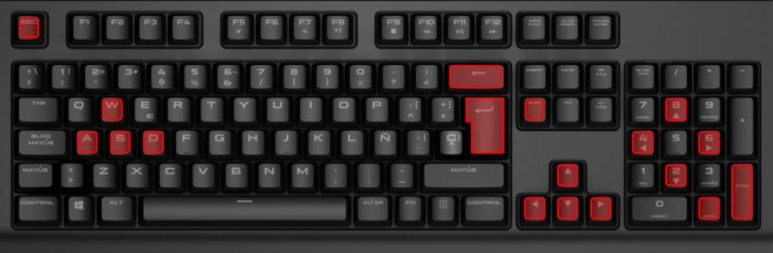 Game keys are W A S D Arrow keys Escape Backspace Enter and Delete.