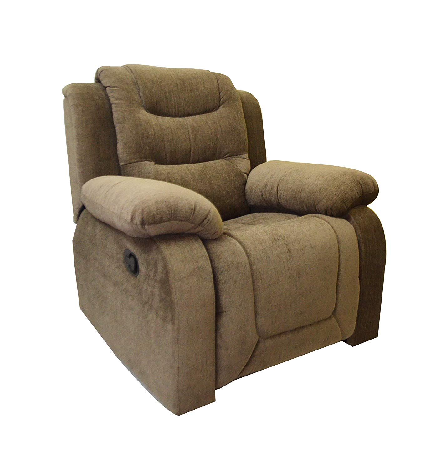 AE Designs in Olive Brown Fabric Rocking Recliner