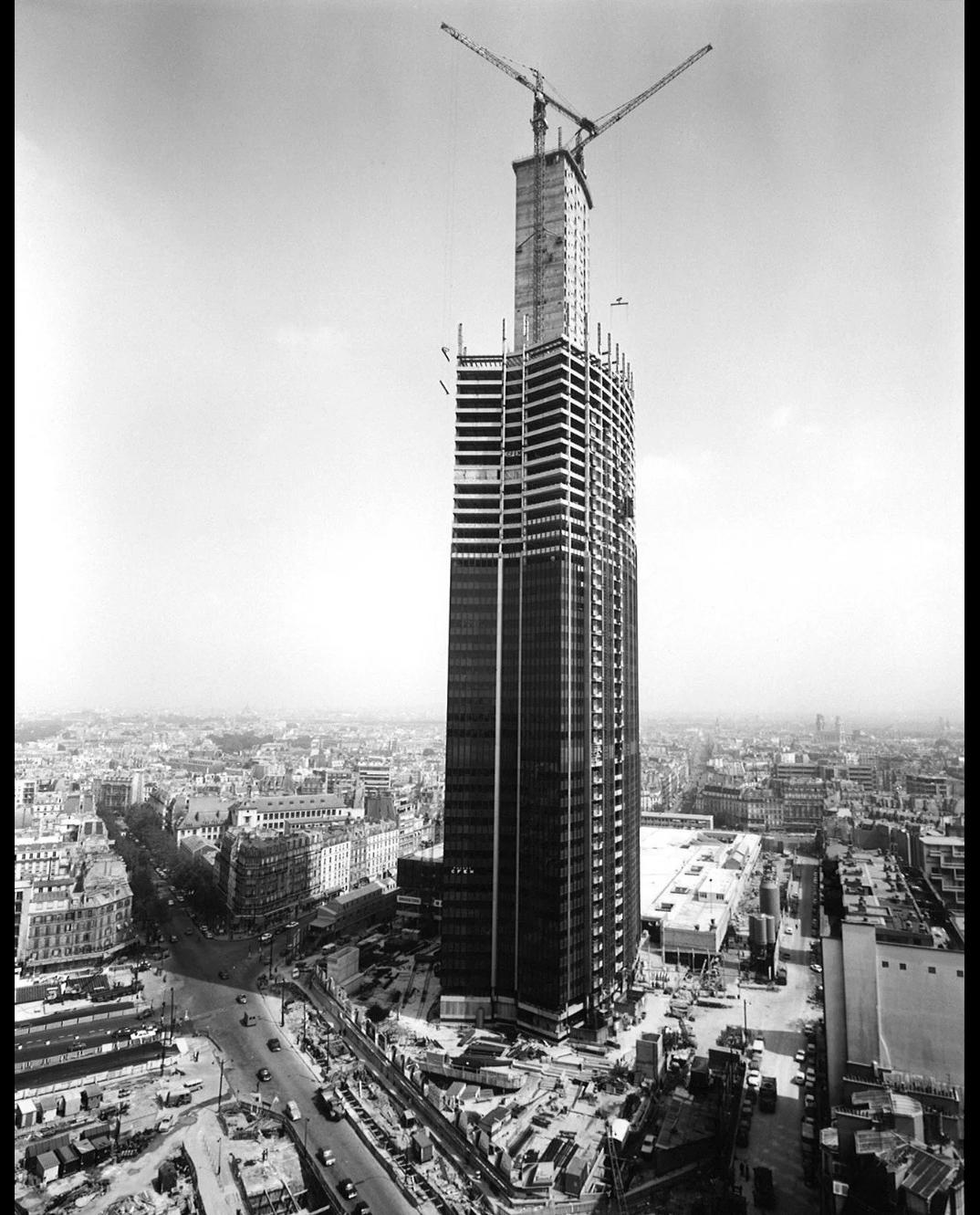 Строительство Башни Монпарнас