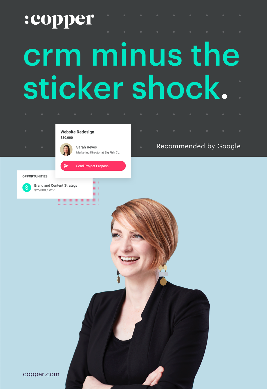 copper crm minus the sticker shock ad