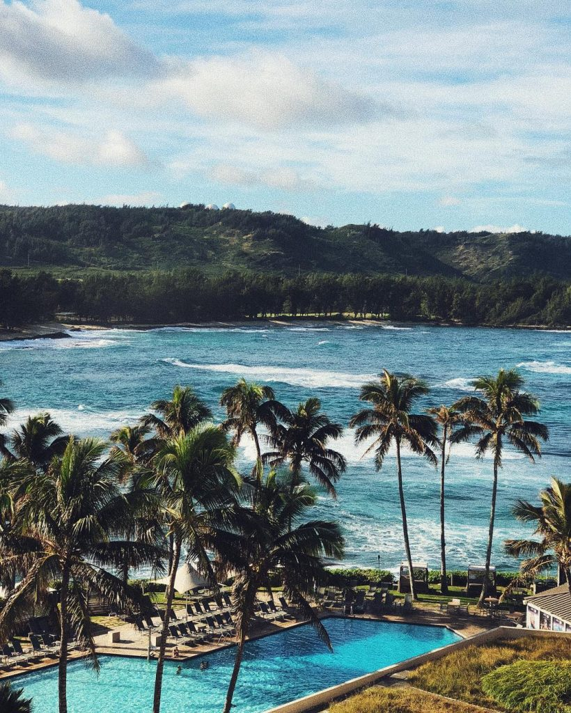 The beautiful Turtle Bay - 5 Best North Shore Oahu Beaches