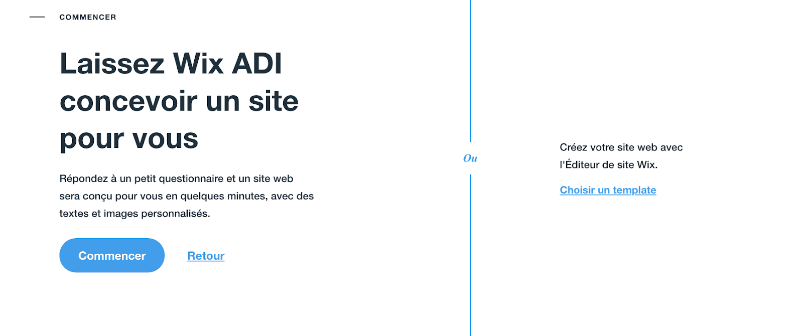 WIX ADI pour concevoir un site Wix