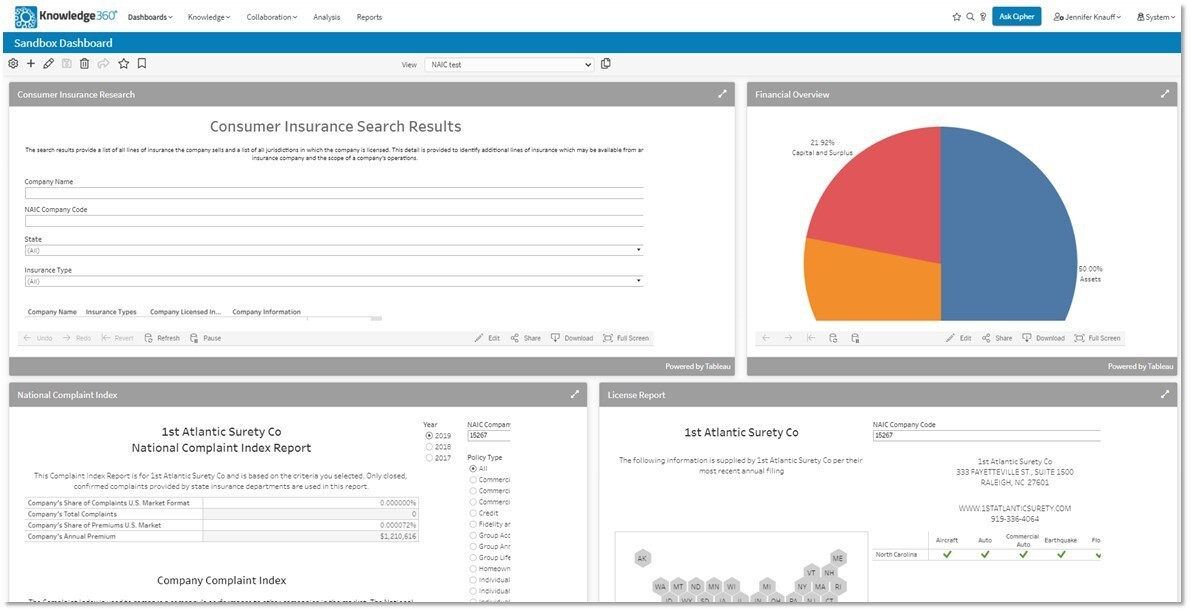 Insurance Companies Can Now View NAIC Data in Knowledge360