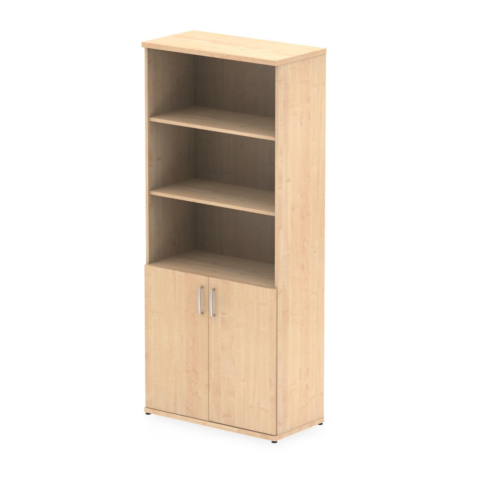 Impulse 2000 Open Shelves Storage Cupboard, Maple finish